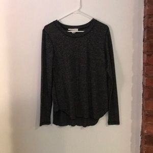 Workshop gray and black speckled long sleeve top